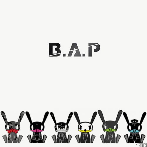 B.A.P karatasi la kupamba ukuta titled B.A.P Bunnies