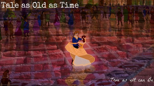 Belle and Prince Adam - disney-princess Wallpaper