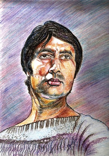 Big B Amitav Bachan...my artwork