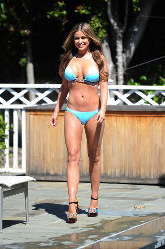 Bikini Candid Shoot In LA [7 May 2012]