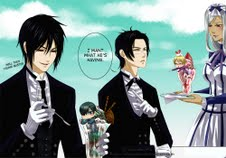 Kuroshitsuji wallpaper probably containing a business suit titled Black Butler Fanart