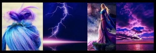 Blue & tolet, violet