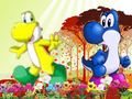 Blue and Yellow Yoshi