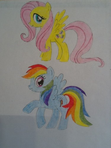 Bored so i drew and colored my 2 fav ponies