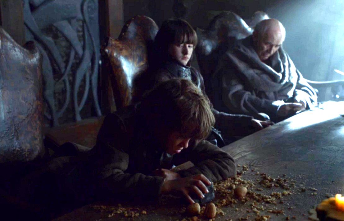 Bran and Rickon with Luwin