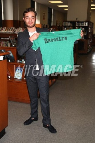 Brooklyn Public Library - May 6, 2012 - ed-westwick Photo