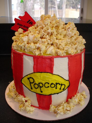 Bucket of popcorn (made out of cake)!!