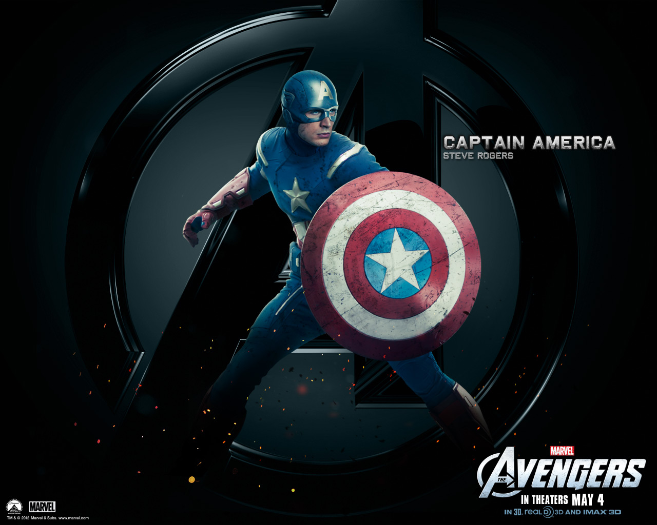 Captain america the avengers wallpaper 30730405 fanpop - Fondos de pantalla 3d avengers ...