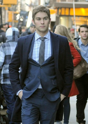 Chace - Gossip Girl - Behind the Scenes - February 06, 2012