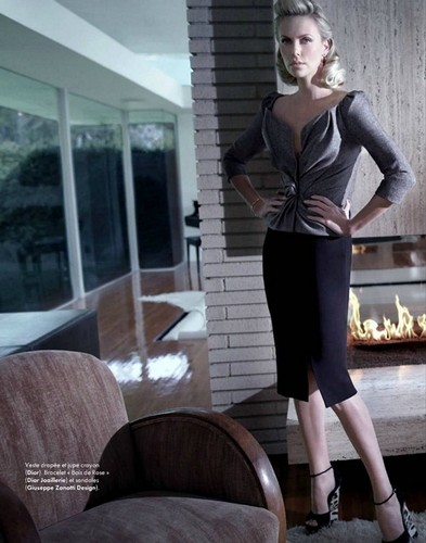 Charlize Theron for Elle France January 2012 Cover
