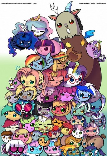 My Little ngựa con, ngựa, pony - Friendship is Magic hình nền containing anime entitled Chibi