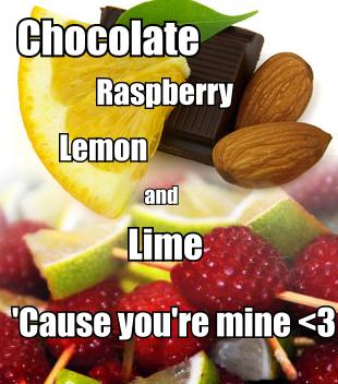 Chocolate, Raspberry, नींबू and चूना, चूने <3