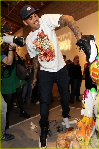 Chris Brown: 'Dum English' Toy Launch!