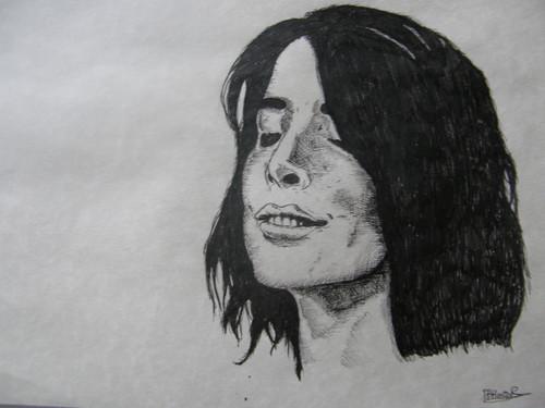 Cobie Smulders Pen portrait sketch sejak Artist