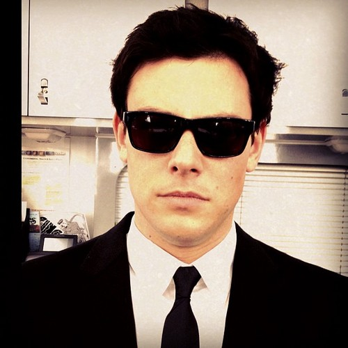 Cory as one of the Men in Black