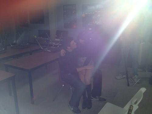 Cory last دن on set of Glee for season 3