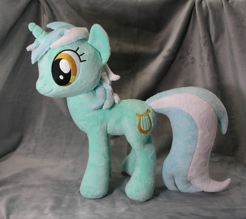Custom LYRA HEARTSTRINGS My Little kuda, kuda kecil plush friendship is magic MLP FIM