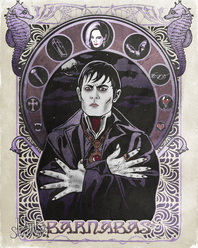 "Tim Burton's Dark Shadows wallpaper titled DS art contest 3rd Place winner ""Judged by Tim Burton"""