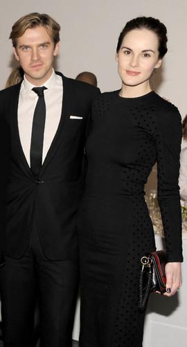 Dan Stevens & Michelle Dockery at the Vanity Fair Downton Abbey Season 2 Premiere party <333
