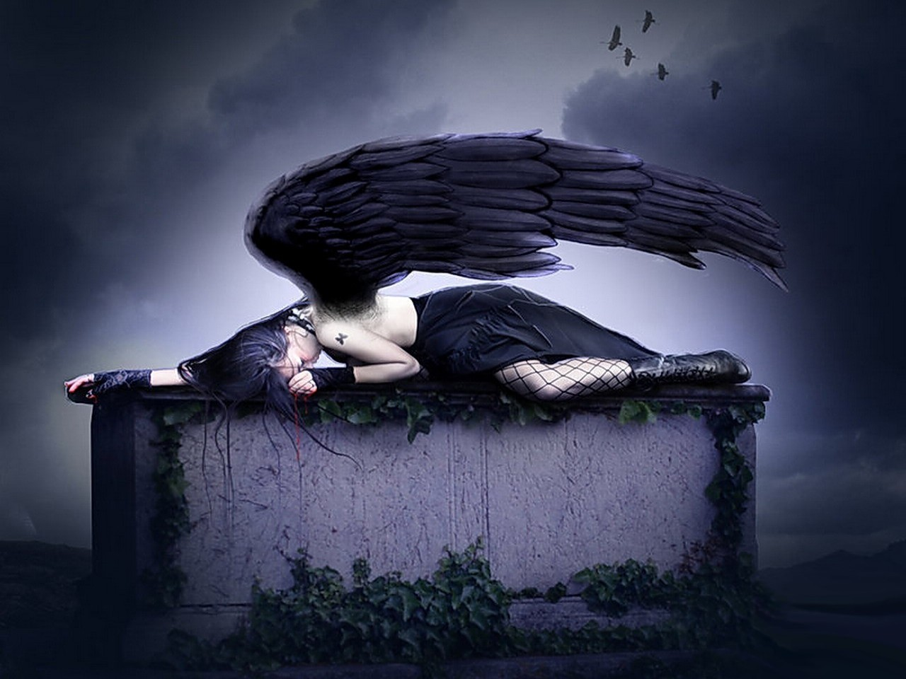 crying angel wallpaper gothic - photo #2