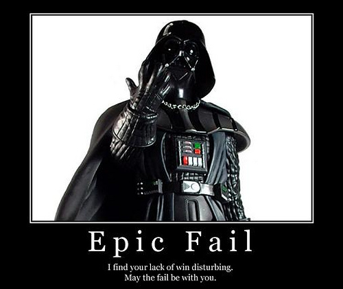 Darth Vader -Epic Fail.