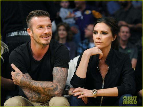 David & Victoria Beckham: Lakers Lovers!