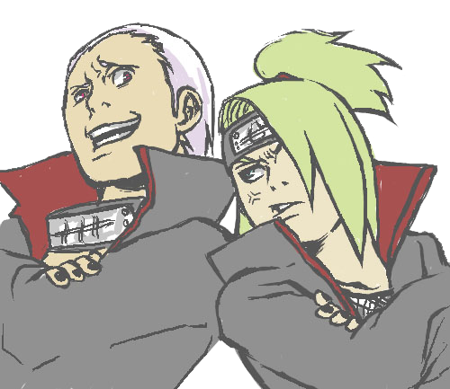 Deidara and Hidan