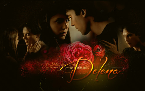 Delena. Love starts now1 - damon-and-elena Wallpaper
