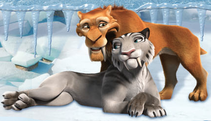 Ice Age Hintergrund possibly with a panther titled Diego and Shira <3