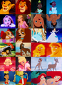 Disney Characters Then and Now