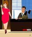 Draper and Holloway - mad-men fan art