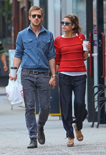 Eva - and Ryan Gosling Together in NYC, May 10, 2012 - eva-mendes Photo