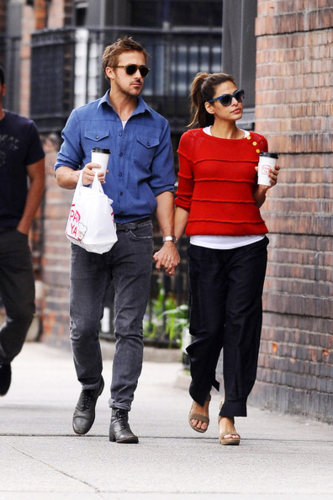 Eva - and Ryan Gosling Together in NYC, May 10, 2012