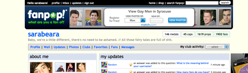 Fanpop's ad selection seems to think I'm a gay male...