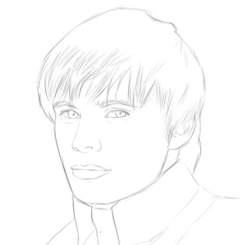 Fayestardust's Arthur Portrait - Pencil Beginning