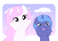 Filly Luna and Celestia