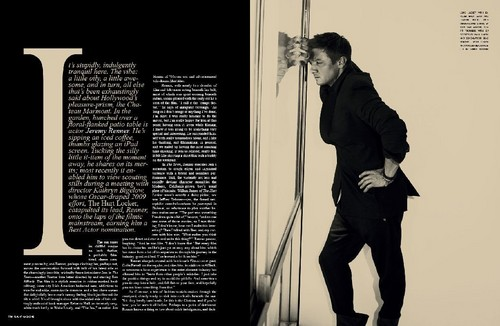 Jeremy Renner wallpaper probably with a sign entitled Flaunt Magazine(2010)
