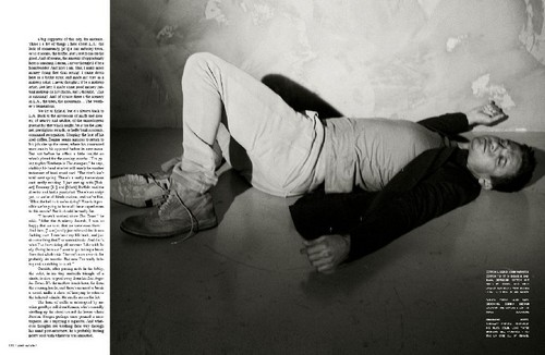 Jeremy Renner wallpaper possibly with a sign and a hip boot called Flaunt Magazine(2010)