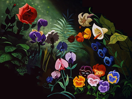 Flowers from Alice in Wonderland