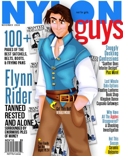 Flynn Rider magazine cover