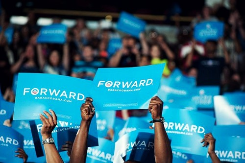 Forward. Not back. Change happens. - barack-obama Photo
