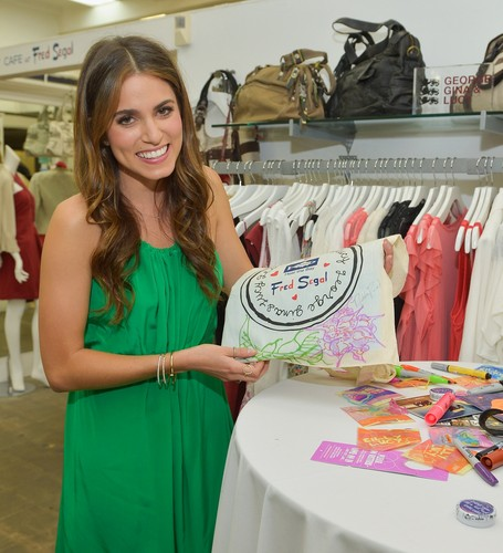 "Nikki Reed wallpaper probably with a sign entitled GEORGE GINA & LUCY'S ""Originals Collection"" Launch in Los Angeles - May 3"