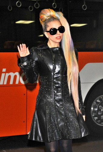 Gaga Arriving at Narita International Airport in Tokyo (May 8)