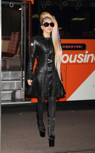 Gaga Arriving at Narita International Airport in Tokyo (May 8)
