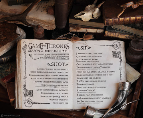 Game of Thrones- Season 2- Drinking Game