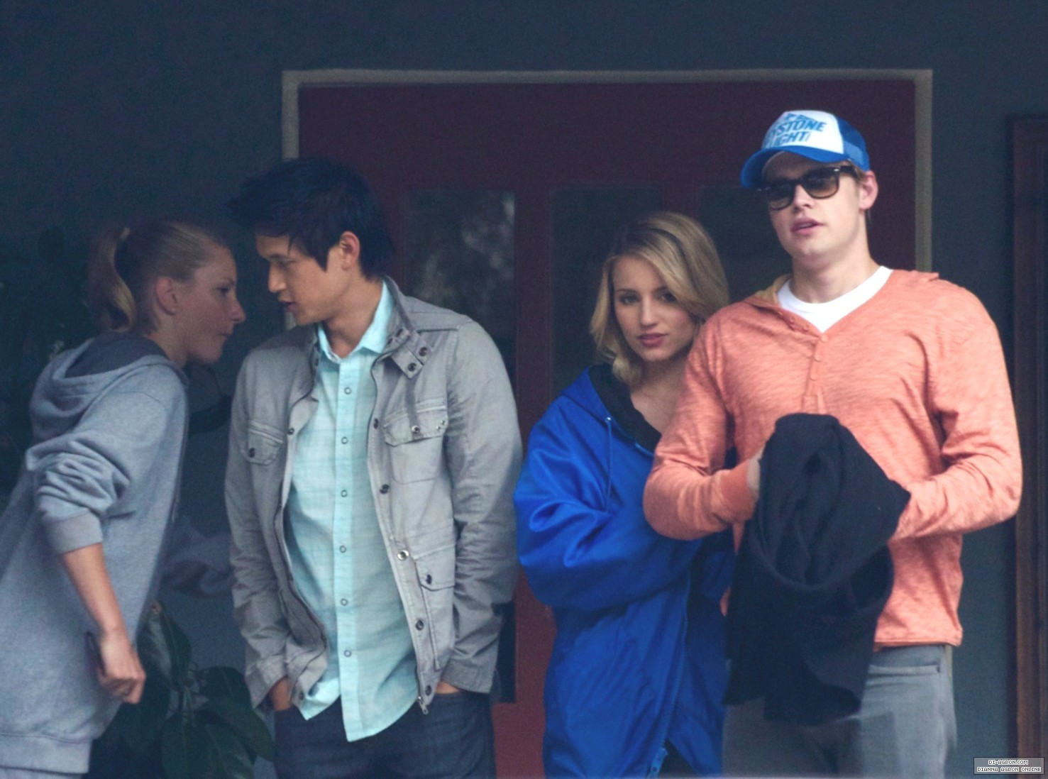 Glee cast out to lunch