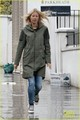 Gwyneth Paltrow & Kids: Scooting in the Rain - gwyneth-paltrow photo
