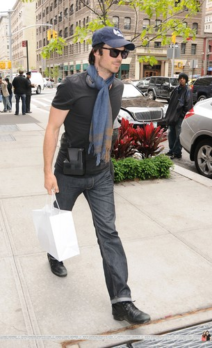 HQ Pics - Ian Somerhalder outside his hotel in Soho (New York City, USA - 07.05.12) - ian-somerhalder Photo