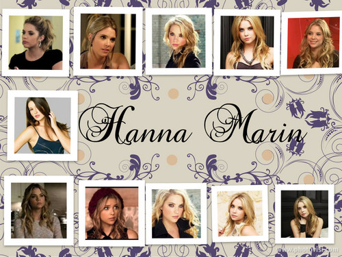 Pretty Little Liars wallpaper probably containing a newspaper called Hanna Marin collage