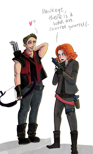 Hawkeye & Black Widow <3